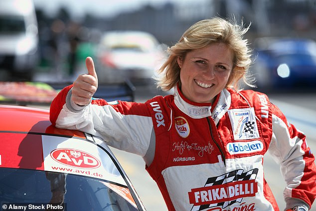 Skilled: Sabine, who first shot to stardom as a racing car driver, passed away at a hospital in Trier, Germany last month following a three-year battle with cancer (pictured in 2010)