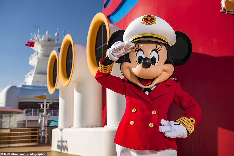 Fun times: Meet Mickey and Minnie Mouse on Disney Magic's non-stop two, three and four-night UK cruises from Liverpool, Newcastle, Tilbury and Southampton