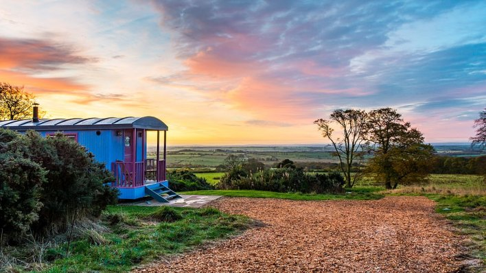 Stars of the show: Beacon Hill Farm, on the edge of Northumberland's International Dark Sky Park, is perfect for astronomers