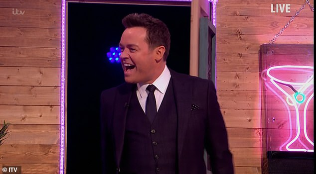 Hilarious: During the quiz, Lorraine, who is a superfan of Stephen Mulhern, was surprised by the presenter as he quipped: 'Lorraine, you're not dreaming, you're in the same room as Stephen Mulhern.'