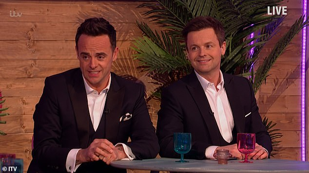 Joker: While Ant hilariously joked about Stephen: 'The only person on telly more than him is Professor Chris Whitty!'