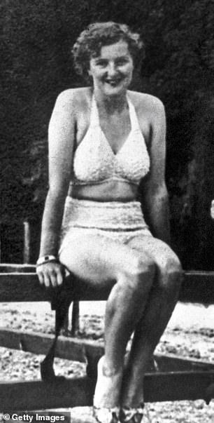 By 1934 Eva Braun, pictured, was established as Hitler's mistress, although few people outside his intimate circle knew anything about her