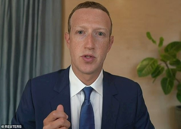 Gal told Reuters that Facebook users should be alert to 'social engineering attacks' by people who may have obtained their phone numbers or other private data in the coming months. Pictured, Facebook founder and CEO Mark Zuckerberg