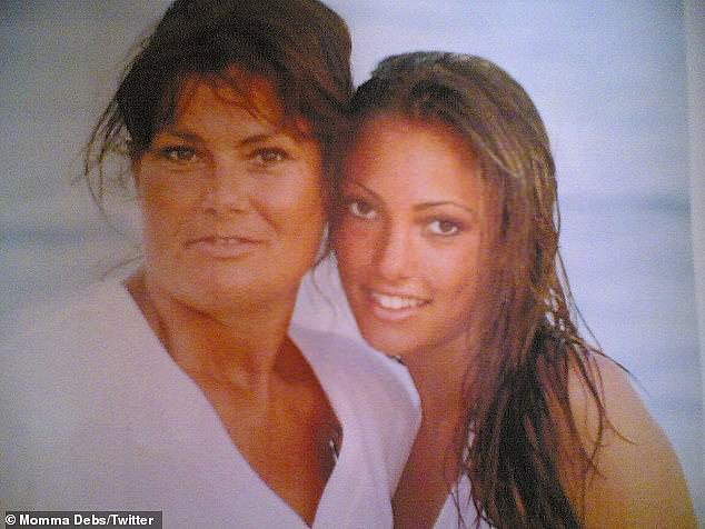 Family: Sophie Gradon's mother Deborah has revealed she's got a brain tumour, saying it could have been caused by the 'stress' of her daughter's tragic death (pictured together)