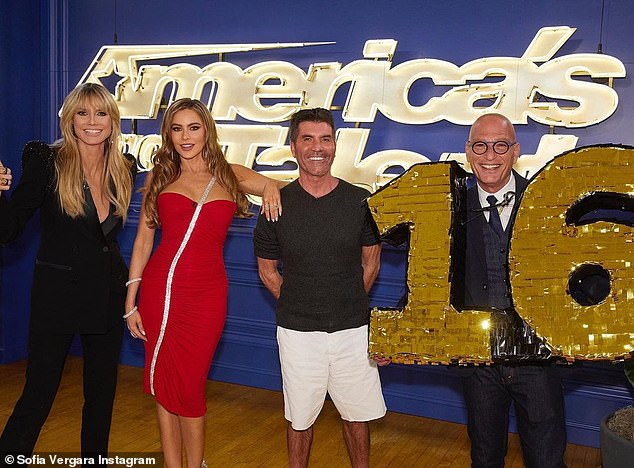 AGT back to work: Sofia Vergara began shooting for the upcoming season 16 of America's Got Talent in Los Angeles this past week alongside fellow judges Heidi Klum, Simon Cowell and Howie Mandel