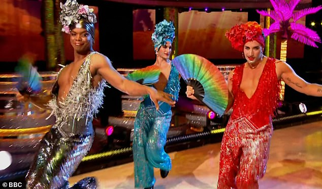 Controversy: Strictly received more than 100 complaints after viewers criticised the show's first ever drag performance which sawJohannes, Gorka Marquez and Giovanni Pernice dress in wigs and heels while dancing to a medley of hits from musical Pricilla:Queen of the Desert