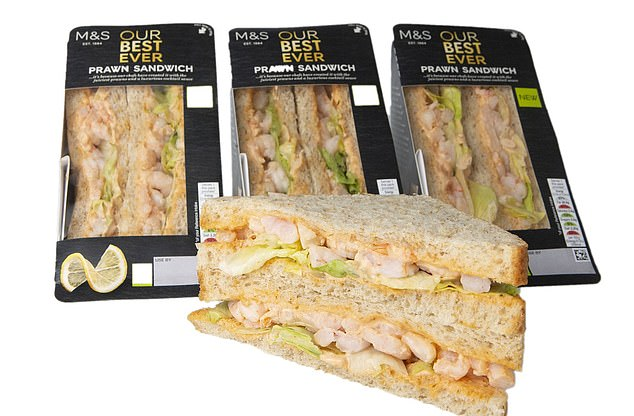 The store's Best Ever Prawn Sandwich costs £3.90 while its standard prawn and mayonnaise version is just 20p less than the dress, at £2.60