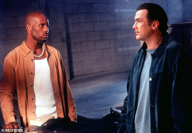 The rapper starred in a number of big films in the late 1990s and early 2000s. He is pictured above with actor Steven Seagal in a promo shot for 2001 film Exit Wounds