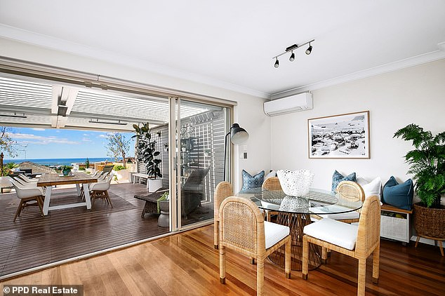 Impressive: The home up for sale has breathtaking views over Clovelly and the ocean