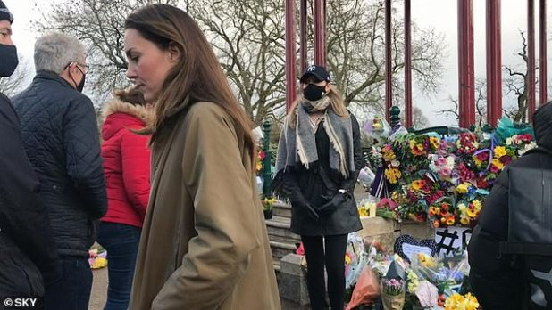The Duchess of Cambridge was seen placing daffodils at Sarah Everard's vigil on Clapham Common last month, days after the 33-year-old's body was found in Kent.
