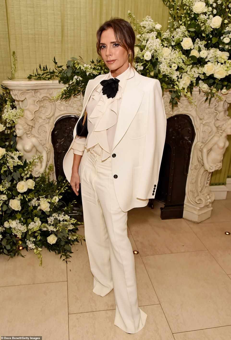 Gifts: Victoria Beckham was treated to a host of luxury treats for Easter, when son Brooklyn's fiancée Nicola Peltz gifted her a hamper packed with £500 of products. Pictured in 2020