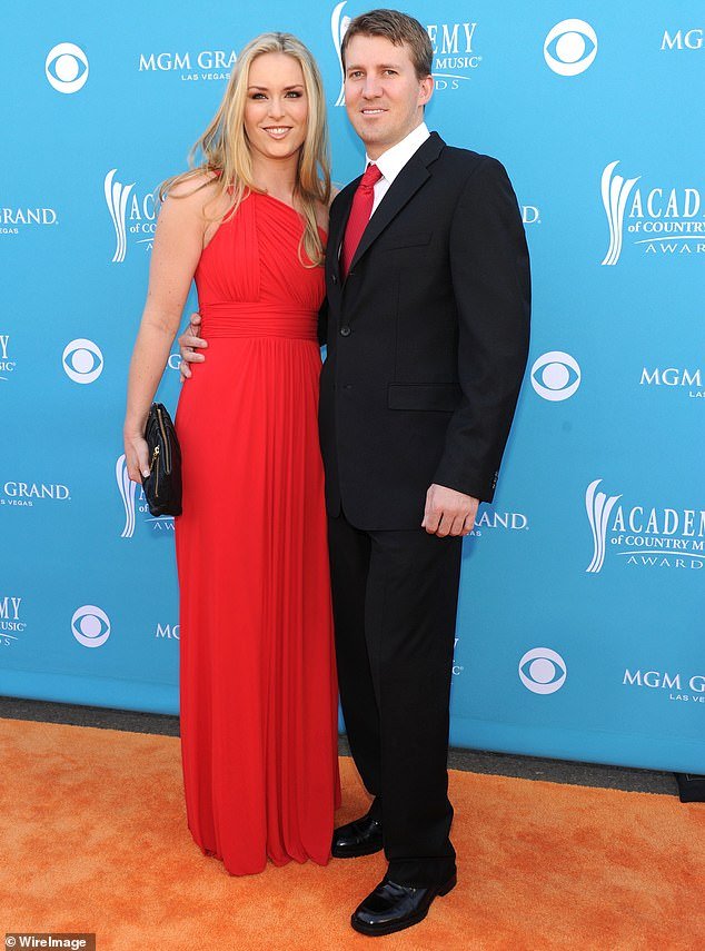 Past spouse: The athlete was married to Thomas Vonn, who also acted as her coach, from 2007 until 2013; the two are seen during the 45th Annual Academy of Country Music Awards in 2010