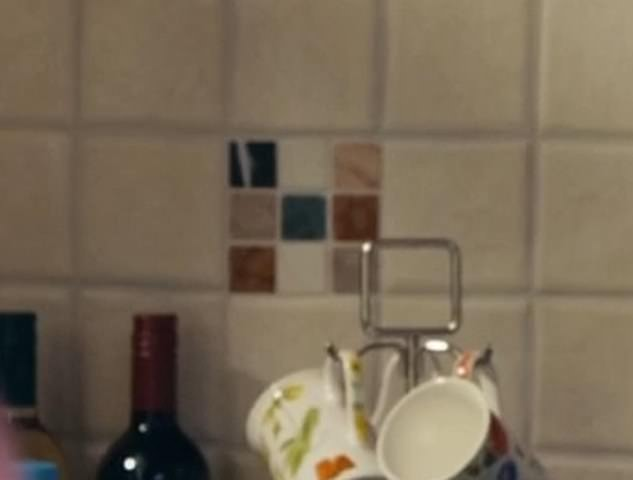Spotted! One person on social media wrote: 'Steph's kitchen tiles say 'H' on them... just saying... #LineOfDuty'