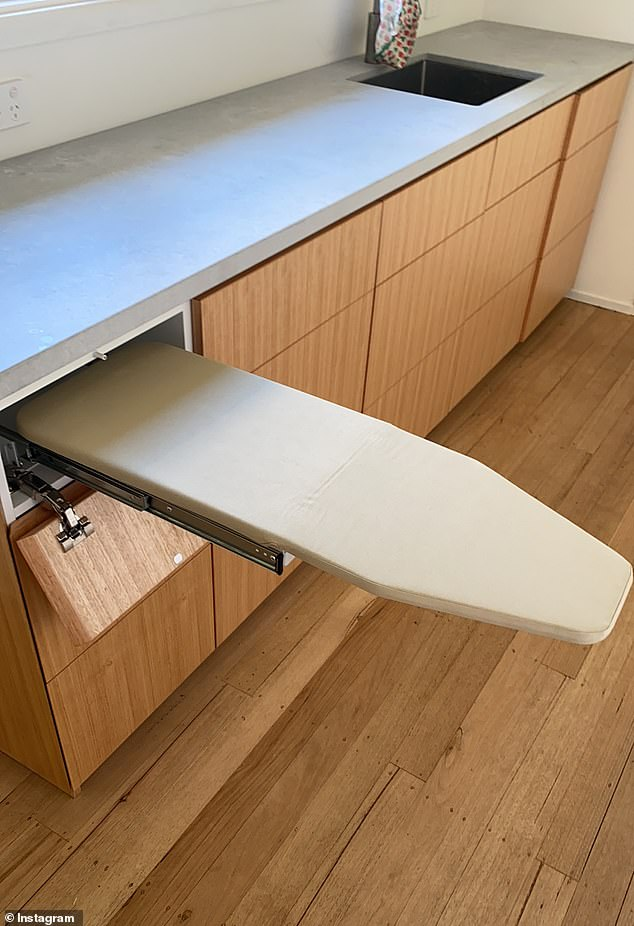 He also designed this ironing board which tucks neatly away in the drawer next to the rack
