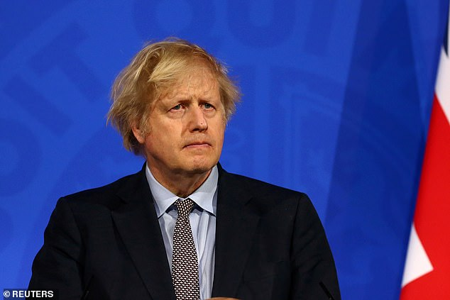 Michael Gove promised MPs who are critical of the vaccine passport system - which could see pubs forced to demand proof of a Covid jab prior to entry - a chance to vote against Mr Johnson's proposals. Pictured: Boris Johnson