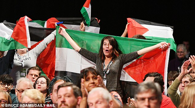 But under Jeremy Corbyn, the only flag being waved at Labour party events was that of the Palestinians