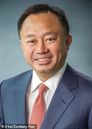 The New York Times published a profile Dinh (pictured) on Sunday, which aimed to clarify the 'sociable and relentless' Republican lawyer's role at Fox Corp