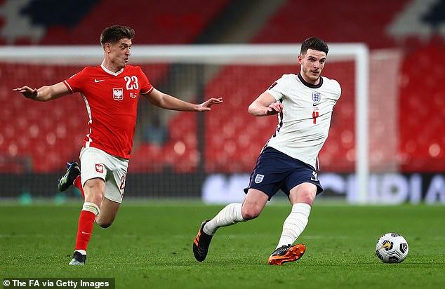 Rice's form has earned him a first-team place in the England squad ahead of Euro 2020