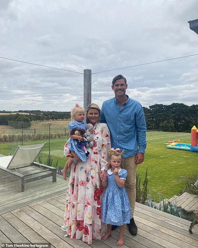 Family: The footballer has been married to his high-school sweetheart Emma since 2016. The couple, who have been together for 15 years, have three daughters, Arabella and Primrose, as well as little Mimi, who they welcomed in 2019. All pictured