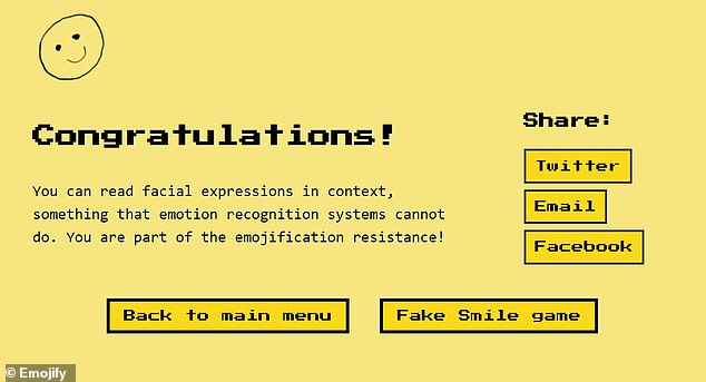 The website delves into the ethics of AI-powered emotion recognition. Detractors of the technology say it is inaccurate and should not be used. This movement is now being dubbed the 'emojification resistance'