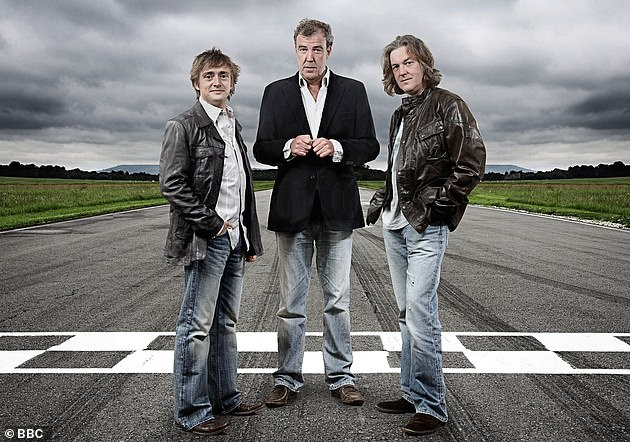 Original trio: Sabine, known as the Queen of the Nurburgring, regularly appeared on the show alongside the trio (pictured) before their shock departure to launch The Grand Tour on Amazon Prime Video in 2016