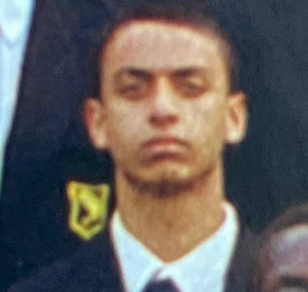 Louis De Zoysa (pictured in a school photo in 2013), 23, allegedly shot Matt Ratana, 54, in the chest at Croydon police station, London, on September 25 last year