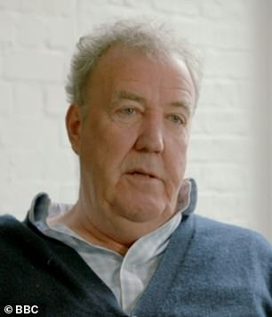 Special episode: Jeremy Clarkson, pictured, Richard Hammond and James May all returned to Top Gear to pay tribute to late racing car driver Sabine Schmitz in a special 30-minute episode