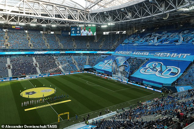 The Gazprom Arena in St Petersburg is ready to host large crouwds at Euro 2020