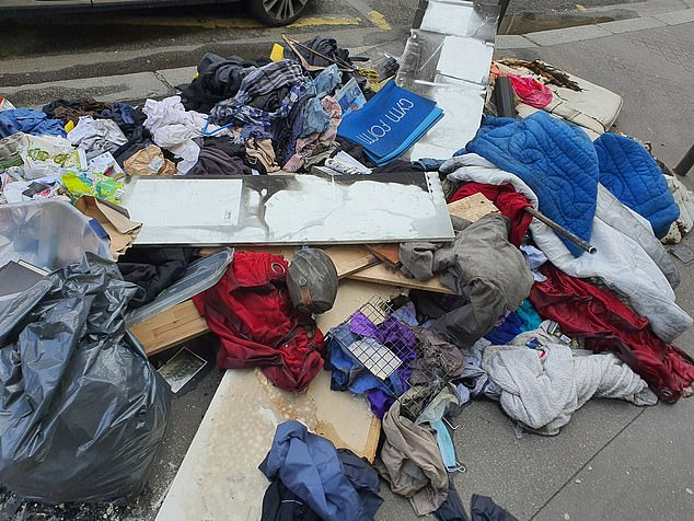 Just one of the thousands of images posted on Twitter of rubbish in the streets of Paris