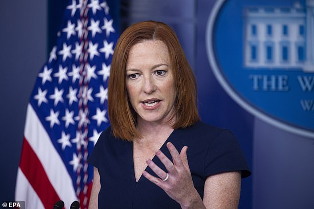 White House press secretary Jen Psaki said Monday that President Joe Biden wasn't 'dictating' that the All-Star Game be pulled from Atlanta, but rather he supported Major League Baseball 'being able to make the decision'