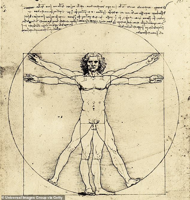 Da Vinci was also fantastically beautiful — his famous Vitruvian Man (a naked anatomical drawing) is thought to be a self-portrait — and liked nothing more than strutting about in very short pink and purple tunics with lavender oil in his lustrous dark curls