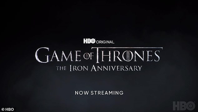 Spin-off:The Iron Anniversary events will also help get fans excited for the new Game of Thrones spin-off House of the Dragon, which is slated to begin production this year