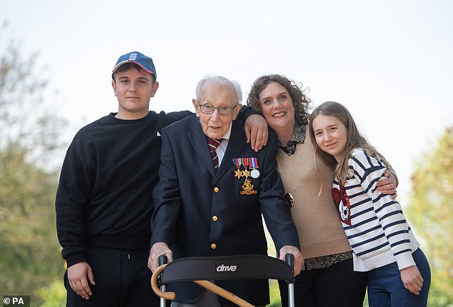 Captain Sir Tom Moore's family has announced a new fund-raising challenge for the public