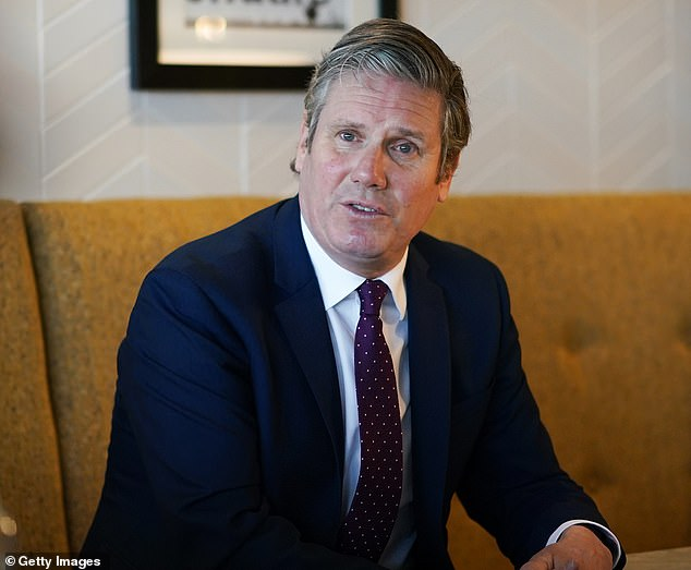 Sir Keir Starmer (pictured) is on course for a humiliating defeat in Hartlepool's by-election as a new poll shows the Tories have a seven-point lead