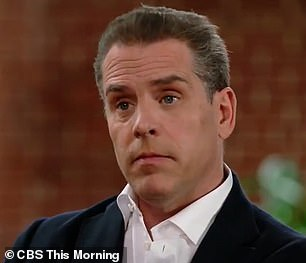 Hunter Biden's interview with CBS This Morning aired on Monday