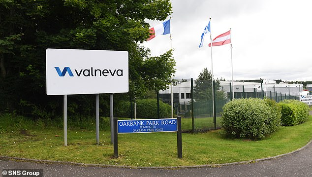 It came as Valneva said its Covid vaccine was 100 per cent effective at triggering antibodies among all those who received a high dose. It will now move to phase 3 trials