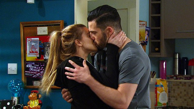 Drama: Undoubtedly Ross' biggest storyline was his horrific acid attack in 2018 (pictured withCharley Webb as Debbie Dingle)