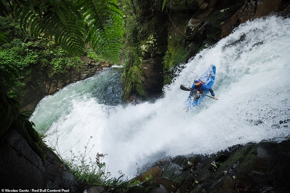 While the extreme kayaker said the adrenaline rush is a big factor in why he takes on extreme challenges, he added that the 'places, people and experiences' are the biggest thrills for him when it comes to the sport