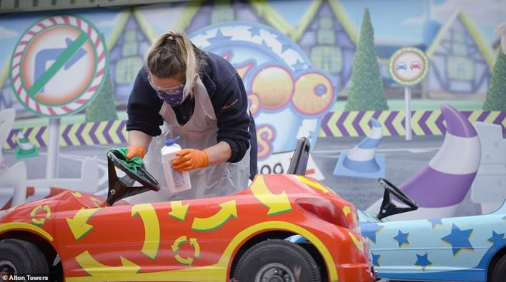 Alton Towers staff are operating an enhanced cleaning regime to help protect visitors from coronavirus