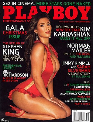 Kim on the cover of Playboy in 2007