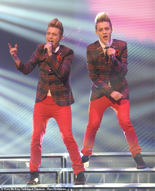 Tirade: It comes as twin brothers Jedward - John and Edward Grimes, both aged 29, who found fame on The X Factor in 2009, slammed the music industry (pictured in 2009)