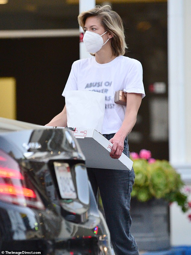 Sighting: Jaime King and boyfriend Sennett Devermont enjoyed a rare public outing on Monday while picking up pizza in West Hollywood