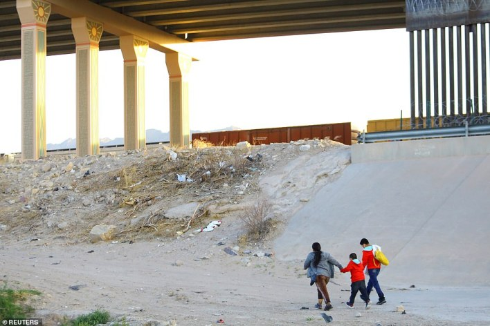 The gaps, like this one in El Paso, Texas, allow migrants to cross into the U.S. by foot and exacerbate the ongoing crisis