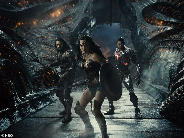 Not pleased: According to a source for the the publication, Gadot had 'multiple concerns with the revised version of the film, including issues about her character being more aggressive than her character in Wonder Woman. She wanted to make the character flow from one movie to the next'