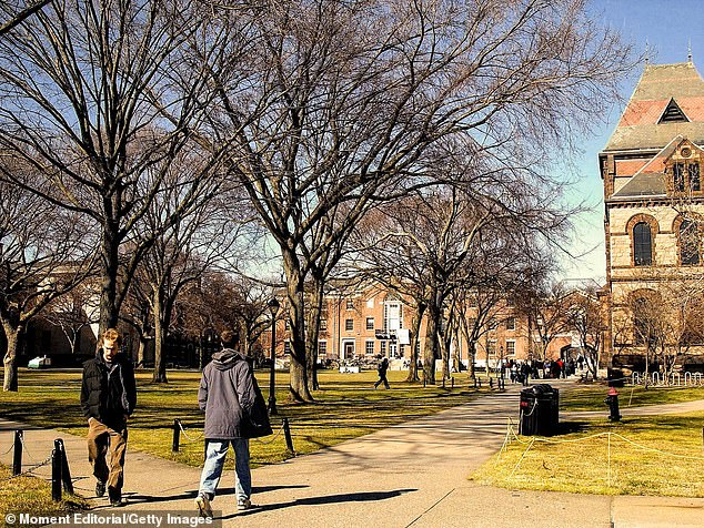 Several US colleges including Brown University (above) announced COVID-19 vaccination requirements for returning students in recent months