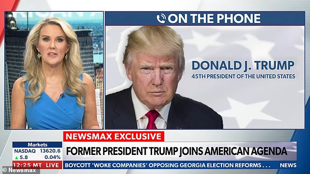 Donald Trump joined conservative network Newsmax for a ranting interview where he said there's a 'glimmer of hope' now that Joe Biden is considering restarting construction on the southern border wall