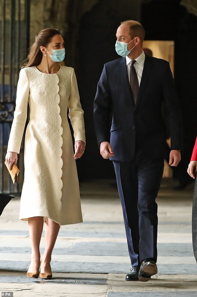Kate Middleton and Prince William visited the Westminster Abbey vaccination center earlier this month