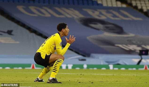 But before he could do so, the referee blew his whistle to award a free-kick to Manchester City