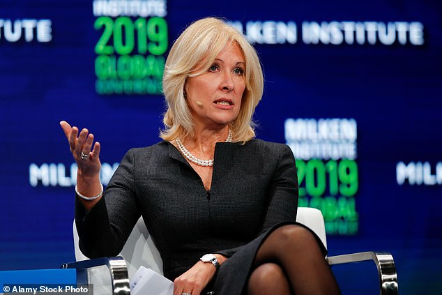 Credit Suisse's chief risk and compliance officer Lara Warner (pictured)and the investment bank head Brian Chin have both been axed