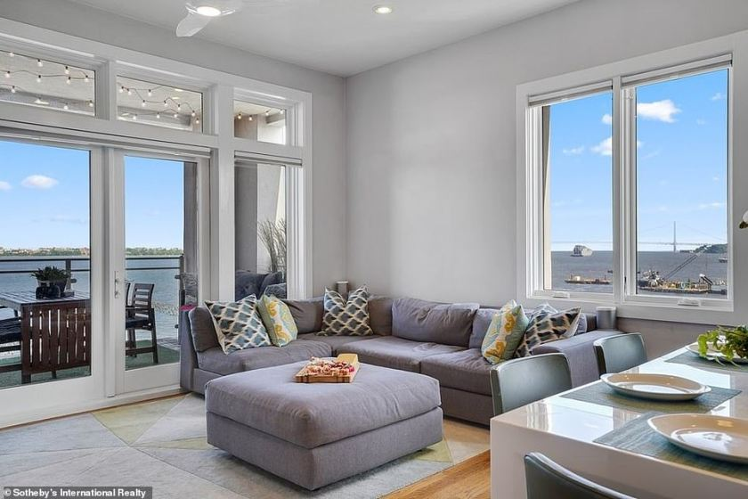 Moving on up: Pete Davidson purchased a luxurious high-rise apartment in his hometown of Staten Island, New York for a cool $1.2million.